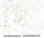 colorful round confetti... | Shutterstock .eps vector #1065546767