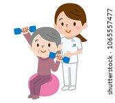 senior citizens lifting... | Shutterstock .eps vector #1065557477