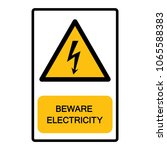 beware electricity  symbol ... | Shutterstock .eps vector #1065588383