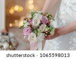 luxurious bridal bouquet of...   Shutterstock . vector #1065598013