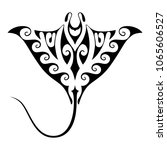symbol manta ray. isolated sign ... | Shutterstock .eps vector #1065606527