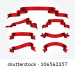 vector ribbons collection | Shutterstock .eps vector #106562357