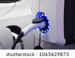electric vehicle charging...   Shutterstock . vector #1065629873