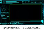 hud futuristic elements screen... | Shutterstock .eps vector #1065640253
