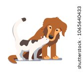 cat and dog friendship and... | Shutterstock .eps vector #1065640433