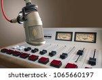 professional microphone in... | Shutterstock . vector #1065660197