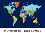 color world map vector | Shutterstock .eps vector #1065669893
