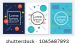 placard templates set with... | Shutterstock .eps vector #1065687893