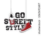 sneakers illustration for t... | Shutterstock .eps vector #1065692687