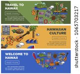 hawaii travel posters of... | Shutterstock .eps vector #1065703217