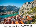 panorama of omis croatia | Shutterstock . vector #106570517