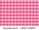 scottish cage. pink background. ... | Shutterstock .eps vector #1065710897