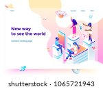 virtual augmented reality... | Shutterstock .eps vector #1065721943