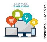 social media marketing | Shutterstock .eps vector #1065729197