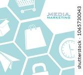 social media marketing | Shutterstock .eps vector #1065730043