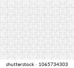 white jigsaw puzzles 80 pieces... | Shutterstock .eps vector #1065734303