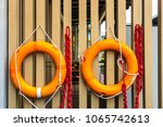 decorate rubber ring has tied... | Shutterstock . vector #1065742613