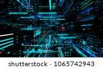data transfer and future... | Shutterstock . vector #1065742943
