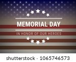 memorial day background vector... | Shutterstock .eps vector #1065746573