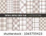 pastel gray tartan and buffalo ... | Shutterstock .eps vector #1065755423