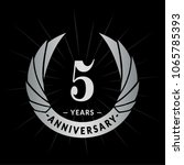 5 years anniversary. elegant... | Shutterstock .eps vector #1065785393
