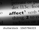 Small photo of affect word in a dictionary. affect concept.