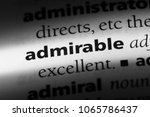 admirable word in a dictionary. ... | Shutterstock . vector #1065786437