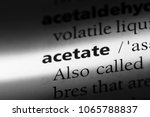 Small photo of acetate word in a dictionary. acetate concept.