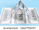 the concept of a toy house on...   Shutterstock . vector #1065796937