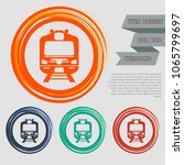 train icon on the red  blue ...