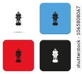 fire hydrant flat vector icon. | Shutterstock .eps vector #1065808067