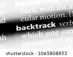 Small photo of backtrack word in a dictionary. backtrack concept.