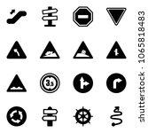 solid vector icon set  ... | Shutterstock .eps vector #1065818483