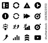 solid vector icon set  ... | Shutterstock .eps vector #1065823553