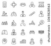thin line icon set  ... | Shutterstock .eps vector #1065828563