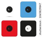 black mark illustration. coin... | Shutterstock .eps vector #1065829847