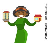 young african american woman... | Shutterstock .eps vector #1065838313