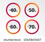 sale discount icons. special... | Shutterstock .eps vector #1065865607