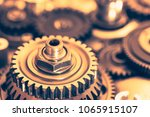 industrial gear wheels  close... | Shutterstock . vector #1065915107