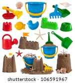 Beach Toys And Sand Castles...