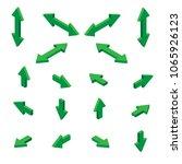 isometric arrows. vector | Shutterstock .eps vector #1065926123