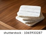 close up on a stack of white... | Shutterstock . vector #1065933287