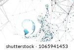 conceptual abstract man with...   Shutterstock .eps vector #1065941453
