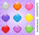 sweet candy match3 trapezoid...   Shutterstock .eps vector #1065942473