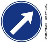 go to the rignt by the arrow... | Shutterstock .eps vector #1065942857