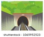 train tunnel simple illustration | Shutterstock .eps vector #1065952523