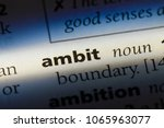 Small photo of ambit word in a dictionary. ambit concept.