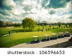 Golf  Landscape In Spring Day