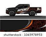truck graphic. simple curved...   Shutterstock .eps vector #1065978953