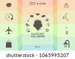 technical support operator flat ... | Shutterstock .eps vector #1065995207